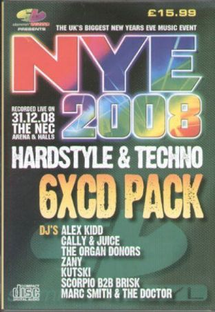 Slammin Vinyl - New Years Eve 2008 - Hardstyle & Techno Pack